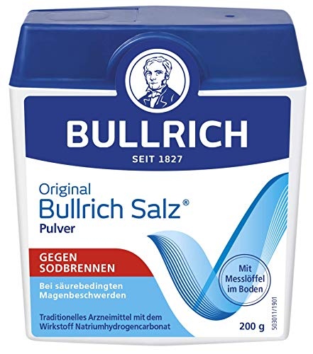 Original Bullrich Salz® Pulver | schnelle Hilfe bei Sodbrennen und säurebedingten Magenbeschwerden (200 g)