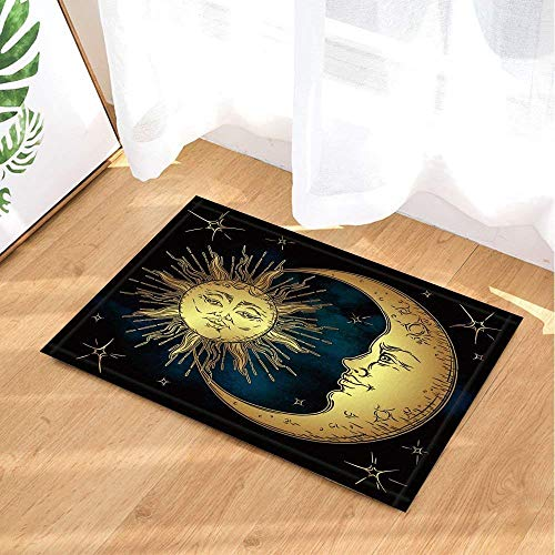 SRJ2018 Boho Chic Sun and Moon Super Super Absorbente, Alfombra Antide