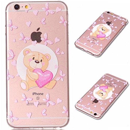 iPhone 6 Plus Hülle, Voguecase Silikon Schutzhülle / Case / Cover / Hülle / TPU Gel Skin für Apple iPhone 6 Plus/6S Plus 5.5(Asleep Cat 01) + Gratis Universal Eingabestift Rotary/Liebebär 01