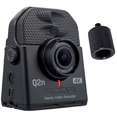 Zoom Q2n-4K Handy Audio- und Video-Recorder Ultra HD + keepdrum Stativ-Adapter Zoom-video