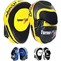 TurnerMAX Boxing Focus Pads Punch Mitts Hook and Jab Kick Strike Shield Punching Pads