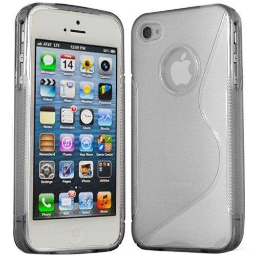 Connect Zone S-Line Coque en gel silicone avec film protecteur d'écran et chiffon de nettoyage pour iPhone 5C