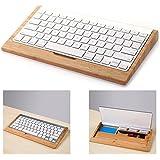 Itian iMac Keyboardständer, Holz-Handwerk Bluetooth Drahtlose Tastatur-Halter Stents Stehen für Apple Macbook