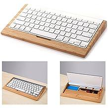 Itian iMac Soporte del Teclado, la Artesanía de Madera Inalámbricas Bluetooth Stents Sostenedor del Soporte para Teclado para Apple Macbook