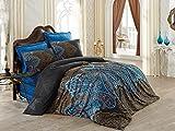 Optima Mako Satin Luxus Bettwäsche 200x200 cm 5 teilig 100% Baumwolle Diba