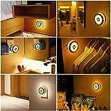 Koopower LED Nachtlicht mit Bewegungsmelder, Sensor Nachtlicht mit Batteriebetrieben Innenleuchte für Wandschrank, Flur, Treppen, Schrank, Küche, Kinderzimmer, Schlafzimmer, Bad.(Warmweiß)