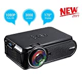 UKSoku U90 Mini Proyector Portátil Home Theater 1080P 3000 Lúmenes LED HD Video Proyector...