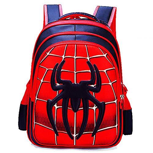 JUFENG 3D Cartoon Kinder Schultasche Boy Anime Spiderman Schule Rucksack Geeignet Für 3-12 Jahre,XL -