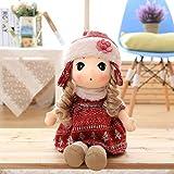VERCART Doll Cloth Doll Little Stuffed Toy Interactive Kids Girl Boy Juguetes Educativos Regalo de cumpleaños Rojo 40cm