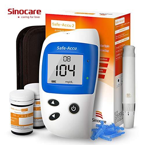 Glucosa en sangre kit de control de la diabetes kit Safe Accu2 de prueba de azúcar en sangre kit Codefree Pack 50 tiras para diabéticos-en mg/dL