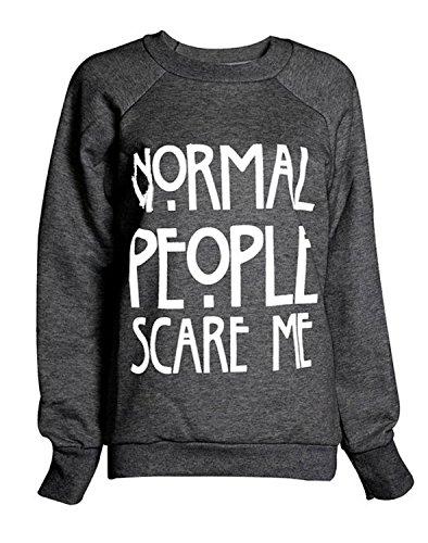 Mix lot inscription Normal People Scare femme Me Sweat-Shirt et polaire pour femme Taille 36–42 Noir - Charbon