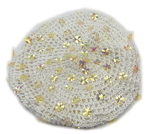 50er Jahre Damen Stoff-Hut beige Monro. Design Haar-Schmuck Rockab. Kopf-Tuch hell braun Muetze grob-maschige Kopfbedeckung