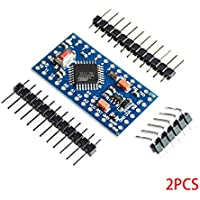Bobury 2 Piezas de Pro Mini-AU ATmega328P 5V / 16MHz Desarrollo Junta microcontrolador Compatible para Arduino