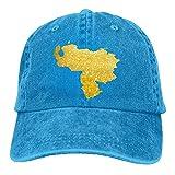 fgjfdjj Gold Venezuela Map Denim Hat Adjustable Womens Cute Baseball Caps