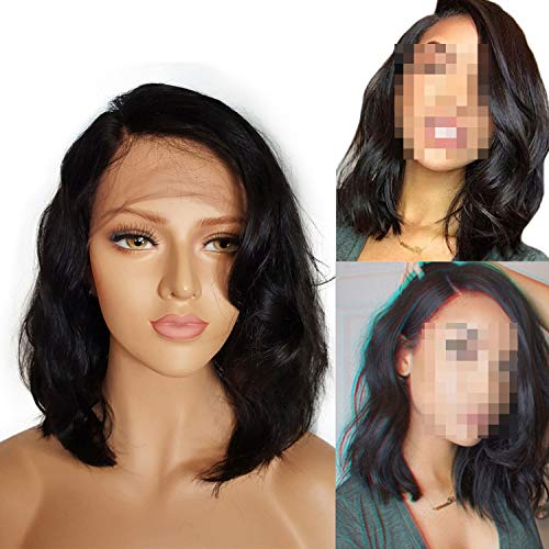 Spitze-Front-Menschenhaar-Perücken Kurzechthaar Perücken wellenförmige Spitze vordere Perücke für schwarze Frauen Spitze-Perücke, ()