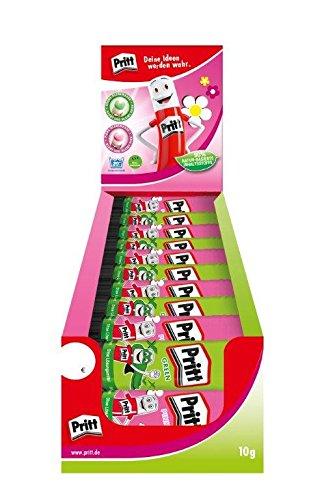 Pritt-Colla adesiva pk4pp-Set di 30 bastoncini di colla, colore: rosa/verde