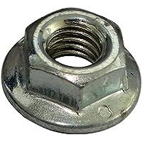 AERZETIX: 50x Tuercas hexagonales con brida M5 8mm H5mm DIN6923 acero galvanizado C19226