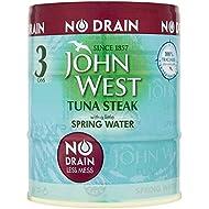 John West Tuna Steak with A Little Spring Water No Drain, 3x110g