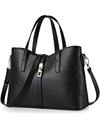 Young & Ming - Damen Leder reine Farbe Handtaschen Clutches Shopper Schultertaschen Handbag'