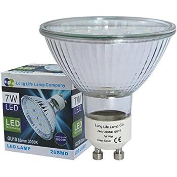 63mm gu10 led replacment for 63mm halogen bulb led warm white lighting. Black Bedroom Furniture Sets. Home Design Ideas