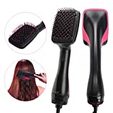 Luckyfine Salon Beauty 2 in 1 1000W Smoothing Hair Dryer & Paddle Brush Hair Styler Comb Black + Pink