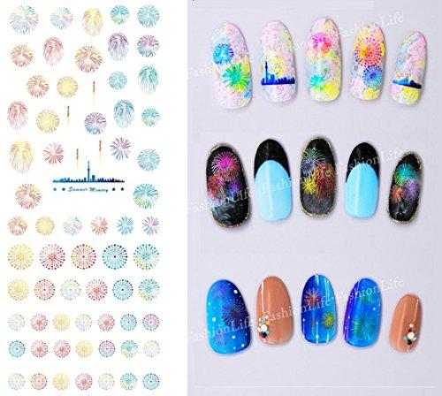 Autocollants de transfert à eau pour la décoration des ongles Fleur Nail Sticker Tattoo - FashionLife #6381