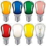 2x Coloured Pygmy 15W SES E14 Small Edison Screw Cap Colour Light bulb Sign Lamp (Red)