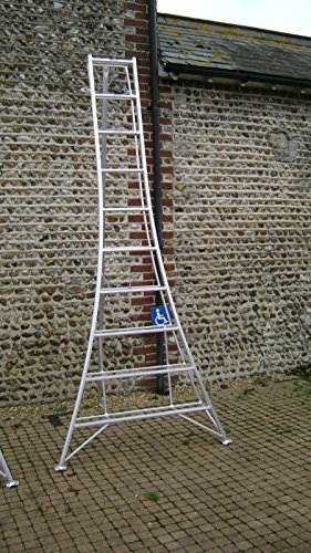 Estate to Garden Tripod Ladder 3m Aluminium Arborist 1 adjustable leg