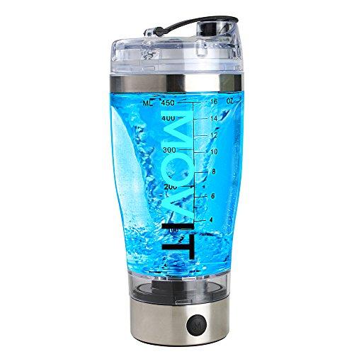 MOVIT Shaker Elettrico USB con Box Porta Proteine, Frullatore Proteine Vortex Mixer Ricaricabile, Mix integratori Palestra, Shaker Automatico Professionale