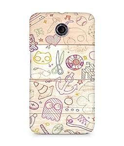 Amez designer printed 3d premium high quality back case cover for Motorola Nexus 6 (Design 4)