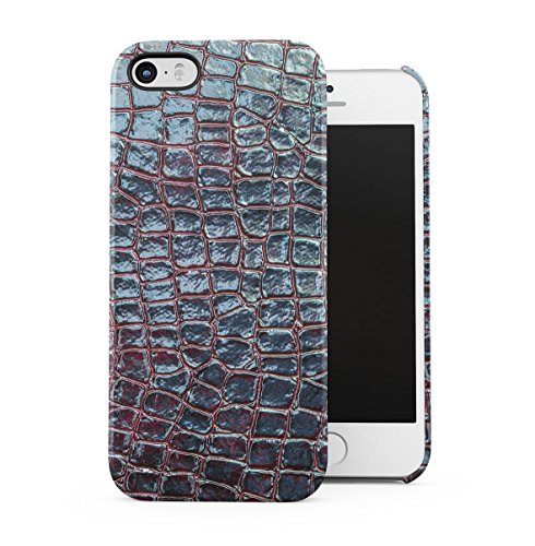 Grey Snake Skin Pattern Apple iPhone 5C Snap-On Hard Plastic Protective Shell Case Cover Custodia Midnight Green Skin