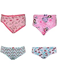 Pepperika Cotton Panties For Girls For 5-6 Years (Pack of 4)