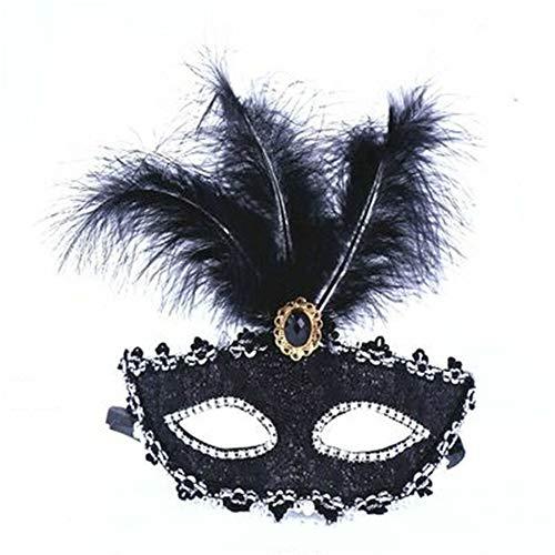 ZjkMr Maske kleines mädchen Kind Maskerade Party Halloween Maske Prinzessin erwachsenes halbes Gesicht Cartoon romantik (7 Farben erhältlich) f 23cmx18cmx11cm