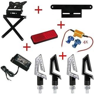 Kit für Motorrad Kennzeichenhalter + 4+ Blinker Kennzeichenbeleuchtung + catarif.+ Supp.+ 4Resis. Lampa Gilera SMT 502004–04