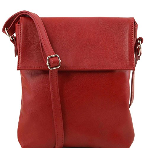 Tuscany Leather - Morgan - Sac bandoulière en cuir - Rouge