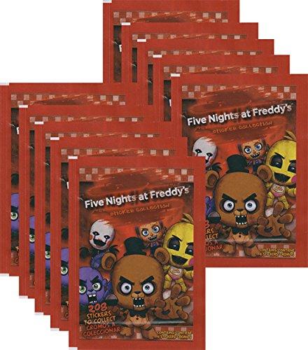 Unbekannt Five Nights at Freddys – Adesivo da collezione – display, sacchetti, confezione starter