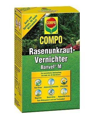 COMPO Rasenunkraut-Vernichter Banvel® M, Rasenherbizid auch gegen schwer bekämpfbare Unkräuter im Rasen