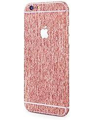 Apple iPhone 6s Plus, iPhone 6 Plus film adhesivo protector redondo del estilo de aluminio cepillado aluminio cepillado mirada del encanto pegatina en rosado de PhoneStar