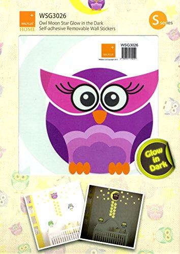 walplus-decoration-sticker-glow-in-the-dark-owl-moon-star