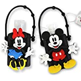 Adorable Disney Hand Sanitizer With Classic Mickey And Minnie Mouse Holder (1oz) (1 Mickey And Minnie Mouse (Pair))