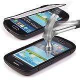 Urcover Samsung Galaxy S3 Mini Hülle Original inkl. Displayschutz Touch-Case rundum Schutz Tasche [Deutscher FACHHANDEL] Handy Cover Schale Etui Full View-Case Schwarz