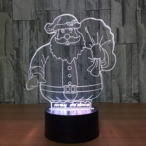 Acryl Hause Nacht Led Touch Nachtlicht Schreibtisch Tisch Haus Dekor 7 Farbe Usb Change Boy Kid Spielzeug Tragbare Visuelle 3D Santa -
