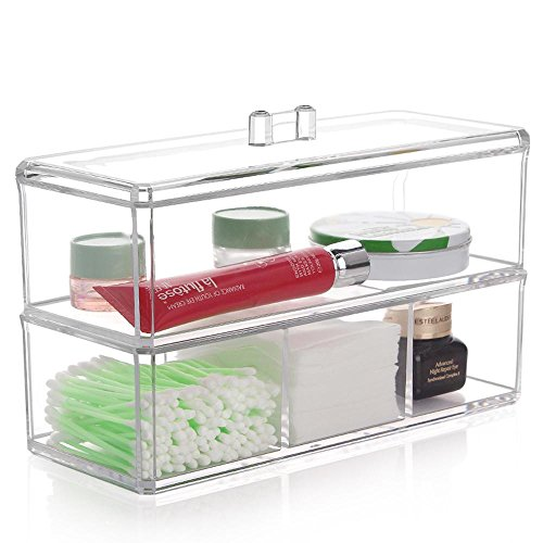 TuTu Boîtes à bijoux en acrylique cosmétiques / Boîtes à bijoux transparentes / Boîtes à cosmétiques quotidiennes quotidiennes (23 * 9.5 * 15cm)