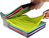#9: House of Quirk 10 Layer Anti-wrinkle Neat Clothes Storage Travel Organizer Holder Rack Ezstax T-shirt Organizer