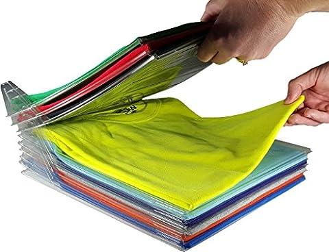 Closet Organizer, um Shirt Ordner | Regular Size, 20er Pack