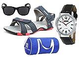 #9: Lotto Sandal Combo of Watch,Sunglass & Globalite Duffle Bag