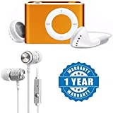 Drumstone Mini Shuffle Mp3 Player, Rechargeable & USB Drive With SX109 Braided Wiring Sport Stereo In Ear Wired Noise Reduction Earphone Compatible With Xiaomi, Lenovo, Apple, Samsung, Sony, Oppo, Gionee, Vivo Smartphones (One Year Warranty)