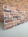 Wandverkleidung in Steinoptik für Schlafzimmer, Wohnzimmer, Küche und Terrasse in Klinkeroptik Look. (ST 351-111)