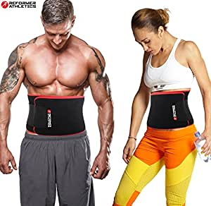 Waist Trimmer Ab Belt for Faster Weight Loss. Includes FREE Fully Adjustable Impact Resistant Smartphone Sleeve for iPhone 6 6S
