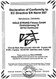 Hold Strong Fitness Klimmzugstange mit Studiozulassung, Grau, HS-K-W6 -